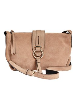 Next - MINK LEATHER AND SUEDE ACROSS-BODY BAG - Umhängetasche - beige