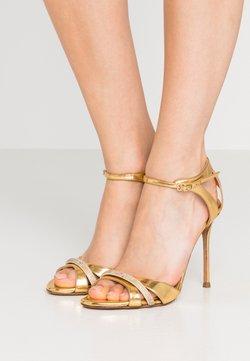 Pura Lopez - Sandalen met hoge hak - mirror gold