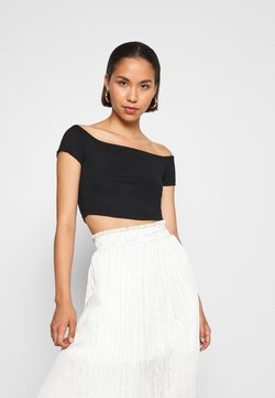 NA-KD - PAMELA REIF OFF SHOULDER  - T-Shirt basic - black