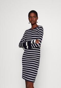 GANT - DETAIL STRIPE DRESS - Sukienka z dżerseju - evening blue