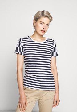 J.CREW - VINTAGE CREWNECK MIXED STRIPE - T-Shirt print - navy/ivory