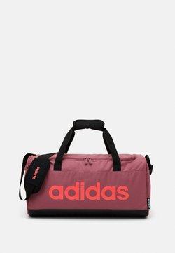 adidas Performance - ESSENTIALS LINEAR SPORT DUFFEL BAG UNISEX - Sporttasche - tramar/black/signal pink