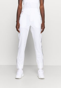 Lacoste Sport - OLYMP TRACK PANT - Jogginghose - white/navy blue