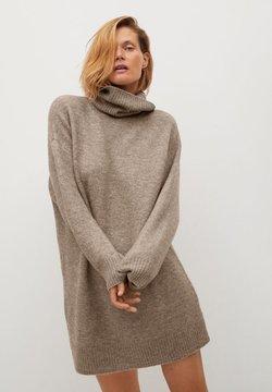 Mango - TALDORA - Gebreide jurk - středně hnědá