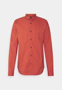 Scotch & Soda - REGULAR FIT TONAL CHEST - Hemd - burned orange