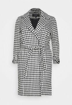 Vero Moda Curve - VMARIA LONG JACKET CURVE - Abrigo - black / white