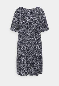 MY TRUE ME TOM TAILOR - DRESS FEMININE BASIC - Freizeitkleid - navy flowers and dots