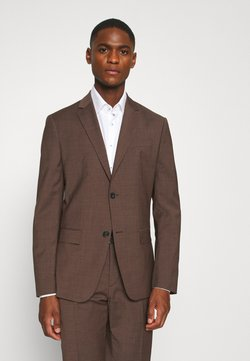 Calvin Klein Tailored - TROPICAL STRETCH SUIT - Costume - brown