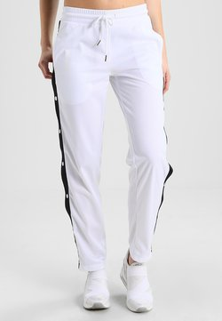 Urban Classics - LADIES BUTTON UP TRACK PANTS - Jogginghose - white/black