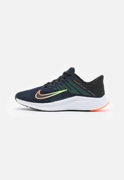 Nike Performance - QUEST 3 - Zapatillas de running neutras - obsidian/atomic orange/black/lime glow