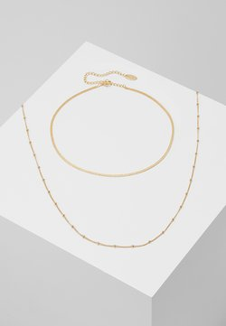 Orelia - SATELLITE AND FLAT CURB CHAIN SET - Ketting - gold-coloured