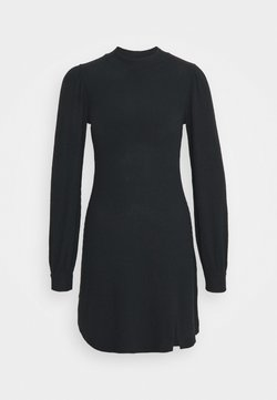 Hollister Co. - COZY SHORT DRESS - Strickkleid - black