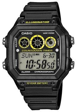Casio - AE-1300WH-1AVEF - Digitaalikello - schwarz/gelb