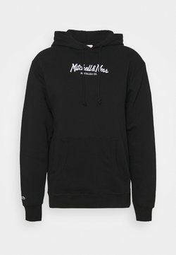 Mitchell & Ness - BRANDED PINSCRIPT HOODY - Collegepaita - black