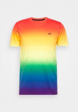 Hollister Co. - RAINBOW CREW OMBRE  - T-Shirt print - multi coloured