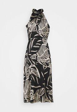 Milly - ADRIAN PALM BURNOUT DRESS - Etuikleid - black/neutral