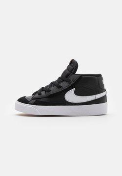 Nike Sportswear - BLAZER MID '77 UNISEX - Sneakersy wysokie - black/white/team orange