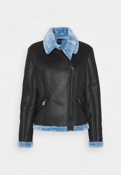 Gipsy - BRIGID  - Imitatieleren jas - black/blue