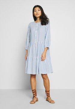 Culture - NOOR STRIPE DRESS - Blusenkleid - mazarine blue