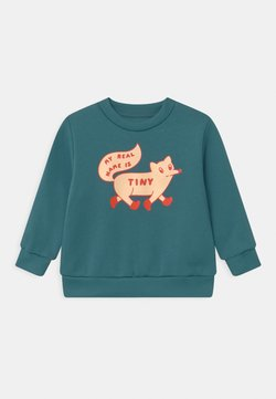TINYCOTTONS - TINY FOX - Sweater - sea blue/cream