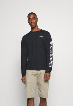 Columbia - MILLER VALLEY LONG SLEEVE GRAPHIC TEE - Funktionsshirt - black/white