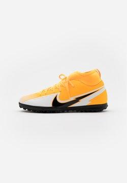 Nike Performance - MERCURIAL JR 7 CLUB TF UNISEX - Fotballsko for kunstgress - laser orange/black/white