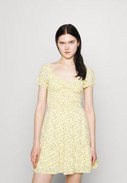 Hollister Co. - SHORT DRESS - Kjole - yellow