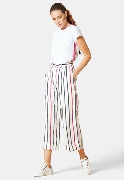 Manila Grace - Stoffhose - bianco stripe
