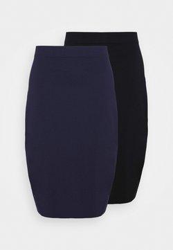Even&Odd Curvy - 2 PACK - Bleistiftrock - black/blue