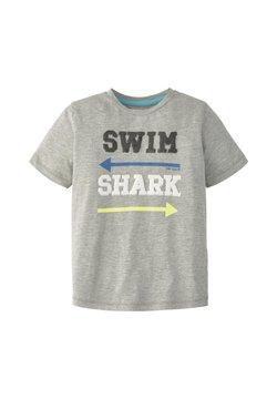 TOM TAILOR - T-SHIRT T-SHIRT MIT PAILLETTEN - T-Shirt print - drizzle melange