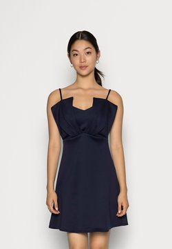Closet - CLOSET RUFFLE BODICE DRESS - Sukienka z dżerseju - navy
