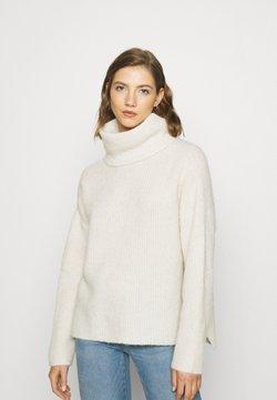 Vero Moda - VMDAISY COWLNECK - Stickad tröja - birch melange