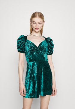Topshop - IDOL TEADRESS - Juhlamekko - dark green
