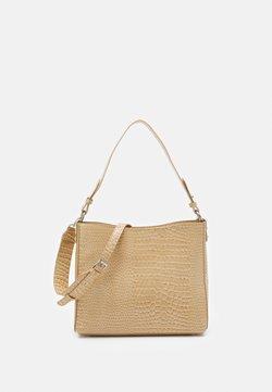 HVISK - AMBLE CROCO - Håndtasker - light beige