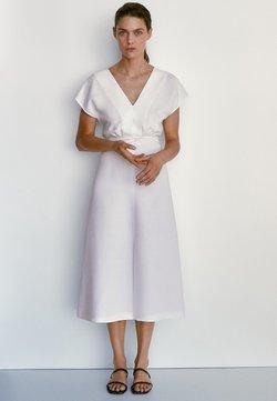 Massimo Dutti - Jersey dress - white