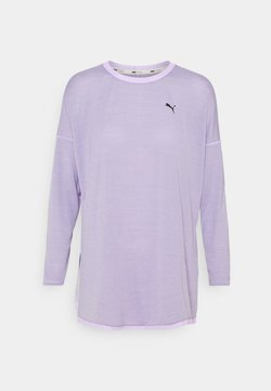 Puma - STUDIO GRAPHENE LONG SLEEVE - Langarmshirt - light lavender
