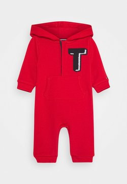 Tommy Hilfiger - BABY HOODIE COVERALL - Strampler - red