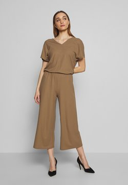 Marc O'Polo - V-NECK WIDE LEG - Combinaison - shaded walnut