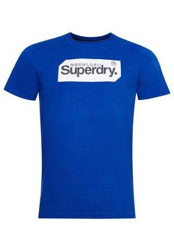 Superdry - LOGO TAG - Print T-shirt - mazarine blue