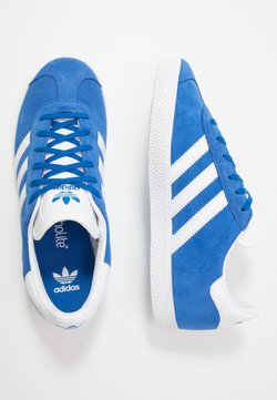 adidas Originals - GAZELLE - Joggesko - blue/footwear white/gold metallic