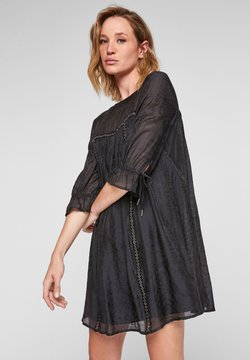 s.Oliver - JACQUARD À RUBAN FANTAISIE - Korte jurk - black