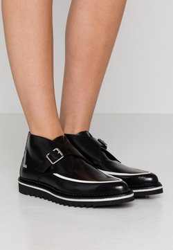 KARL LAGERFELD - BUCKLE SHOE MID - Ankle Boot - black