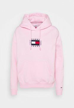 Tommy Jeans - BOX FLAG HOODIE - Huppari - romantic pink