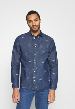 Tommy Jeans - CRITTER PRINT UNISEX - Overhemd - denim dark