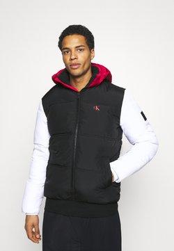 Calvin Klein Jeans - COLOURBLOCK PUFFER - Winterjacke - black/ white / red