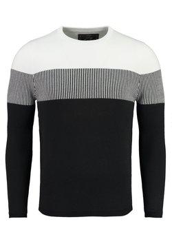 Key Largo - Strickpullover - white-black