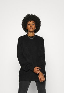 Tommy Jeans - LOFTY YARN CREW NECK - Pullover - black