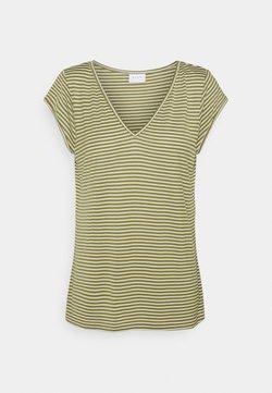 Vila - VISCOOP  - T-Shirt print - green olive/optical snow