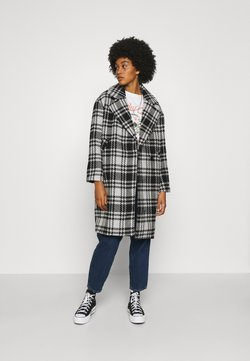 ONLY - ONLDAJANA CHECK COAT - Abrigo - black/white
