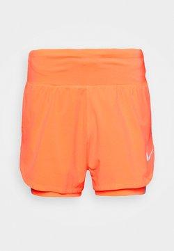 Nike Performance - ECLIPSE SHORT - Pantalón corto de deporte - bright mango/silver